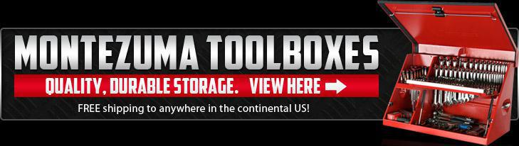 Montezuma Toolboxes: Quality, durable storage. View here. FREE shipping to anywhere in the continental US!