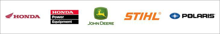 We carry products from Honda, Honda Power Equipment, John Deere, Stihl, and Polaris.