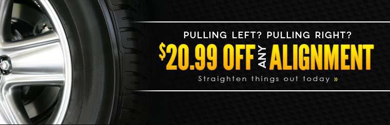 Get $20.99 off any alignment! Click here for your coupon.