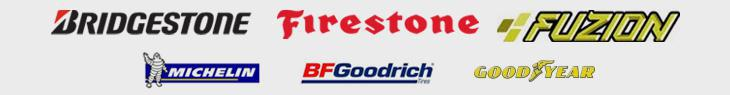 We proudly carry products from Bridgestone, Firestone, Fuzion, Michelin®, BFGoodrich®, and Goodyear.
