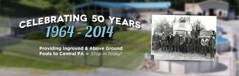We have provided inground and above ground pools to central PA for 50 years!