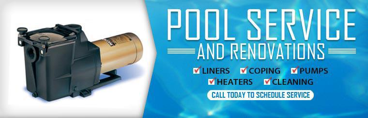 Pool Service and Renovations - Liners, Coping, Pumps, Heaters, and Cleaning