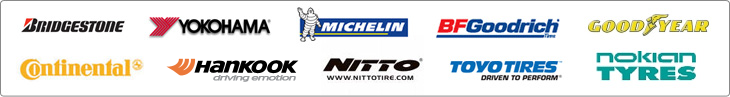 We proudly offer products from Bridgestone, Yokohama, Michelin®, BFGoodrich®, Goodyear, Continental, General, Nitto, Toyo, and Nokian.