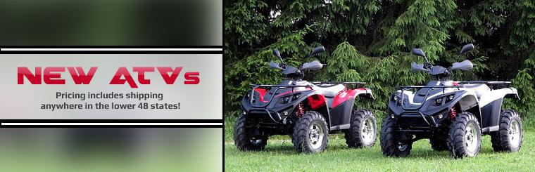 New ATVs: Pricing includes shipping anywhere in the lower 48 states!