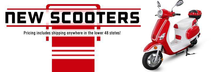 New Scooters: Pricing includes shipping anywhere in the lower 48 states!