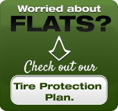 Worried about flats? Check out our Tire Protection Plan.