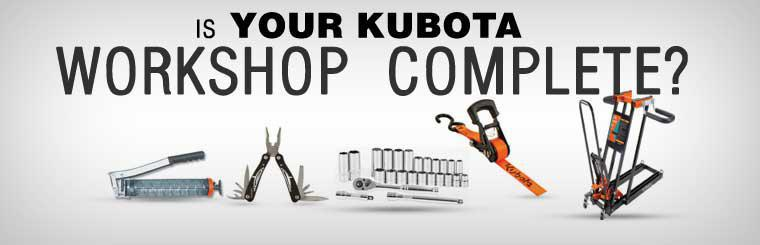Is your Kubota workshop complete?