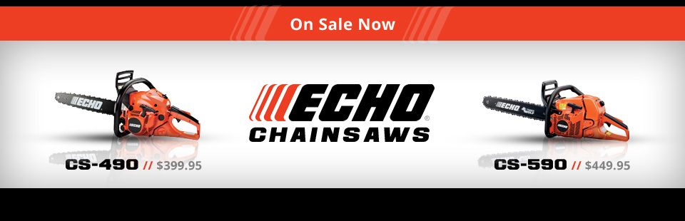 We have ECHO chainsaws on sale now! Click here to contact us.