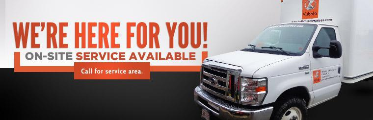 On-site service available. Click here to contact us for more information.