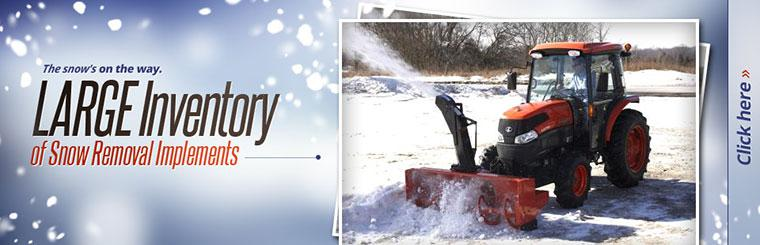We have a large inventory of snow removal implements!