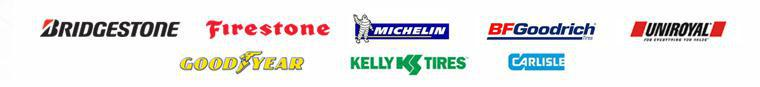 We are proud to carry Bridgestone, Firestone, Michelin®, BFGoodrich®, Uniroyal®, Goodyear, Kelly and Carlisle!