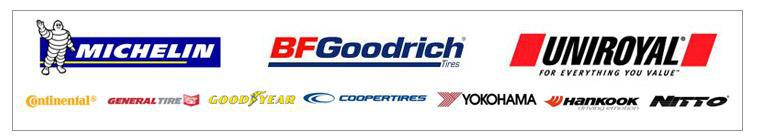 We carry products from Michelin®, BFGoodrich®, Uniroyal®, Continental, General, Cooper, Yokohama, Hankook, Goodyear, and Nitto.