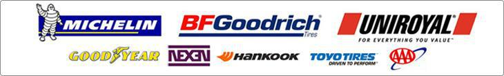 We carry products from Michelin®, BFGoodrich®, Uniroyal®, Goodyear, Nexen, Hankook, and Toyo Tires. AAA.