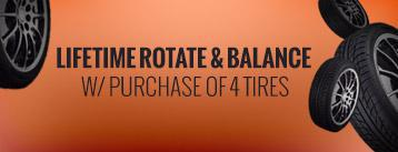 Lifetime Rotate & Balance w/ Purchase of 4 Tires