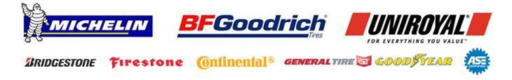 We carry products from Michelin®, BFGoodrich®, Uniroyal®, Bridgestone, Firestone, Continental, General, and Goodyear. Our technicians are ASE certified.