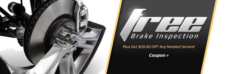 Get a free brake inspection, plus get $20.00 off any needed service! Click here to print the coupon.