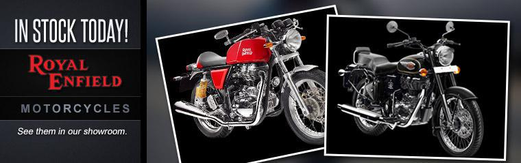 Royal Enfield motorcycles are now in stock!