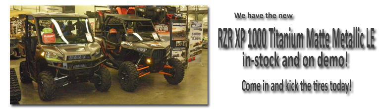 We have the new RZR XP 1000 In-Stock and On Demo!  Come see it today!