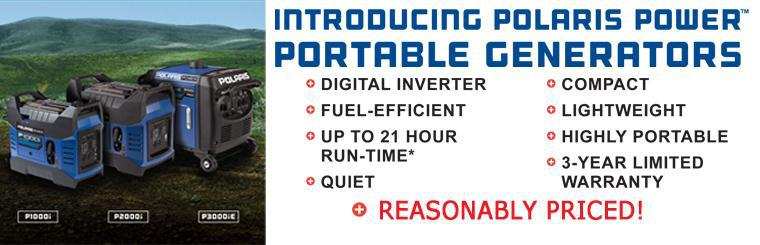 Click to Learn More About the New Polaris Power Generators