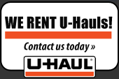 We rent U-Hauls! Click here to contact us today.