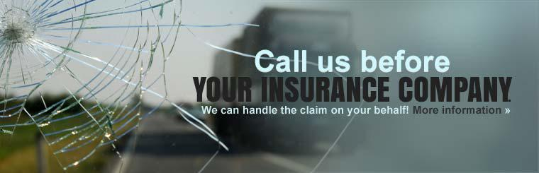 Call us before you call your insurance company, we can handle the claim on your behalf! Click here for more information.