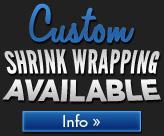 Custom shrink wrapping available. Click here for more info.