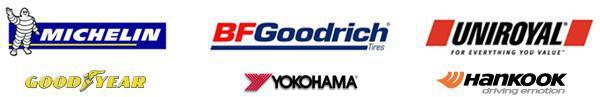 We proudly carry products from Michelin®, BFGoodrich®, Uniroyal®, Goodyear, Yokohama, and Hankook.