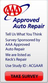 AAA Approved Auto Repair. Tell Us What You Think. Survey Sponsored by AAA Approved Auto Repair. We are listed as Keck's Repair, use Study ID: ACGAAR. Take Survey.