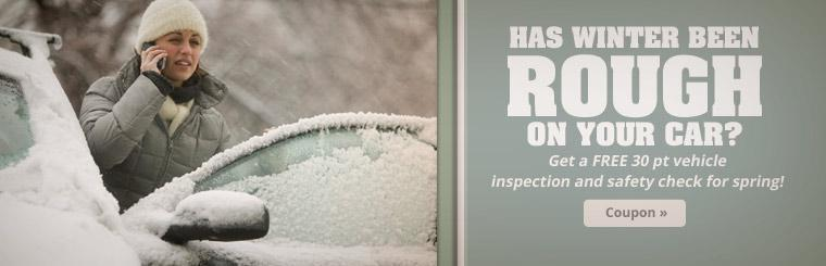 Has winter been rough on your car? Get a FREE 30 point vehicle inspection and safety check for spring! Click here to print your coupon.