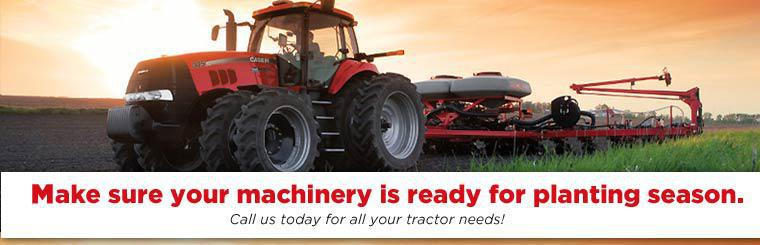 Make sure your machinery is ready for planting season! Call us today for all your tractor needs!