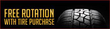 Free rotation with your Tire purchase.