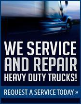 We service and repair heavy duty trucks! Request a service today.