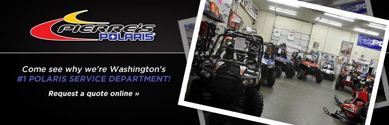Come see why we're Washington's #1 Polaris service department! Click here to request a service.