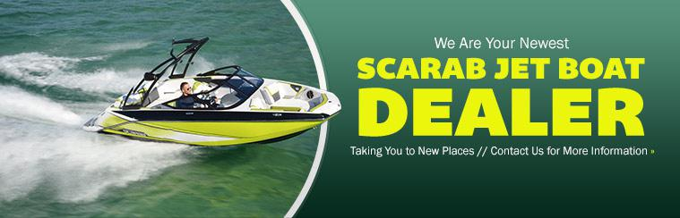We are your newest Scarab jet Boat dealer! Contact us for more information.
