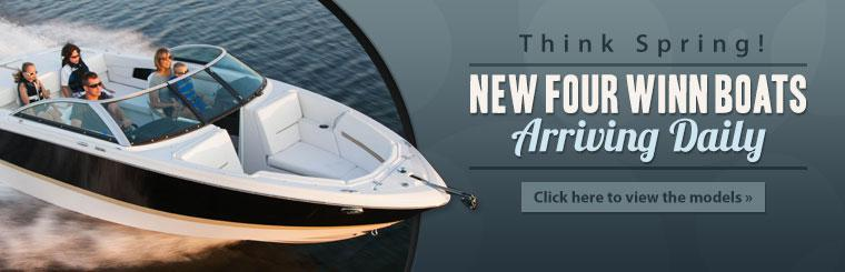 New Four Winn boats are arriving daily! Click here to view the models.