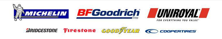 We carry products from Michelin®, BFGoodrich®, Uniroyal®, Bridgestone, Firestone, Goodyear, and Cooper.
