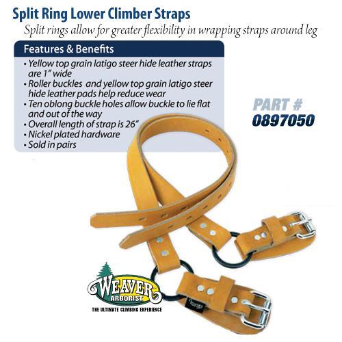 Weaver Arborist Split Ring Lower Climber Straps