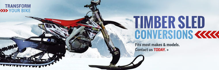 Transform your bike with Timber sled conversions! Click here to view our selection.