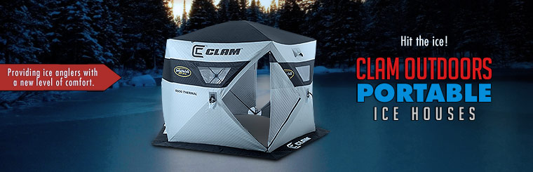 Hit the ice with CLAM Outdoors Portable Ice Houses! Click here to contact us.