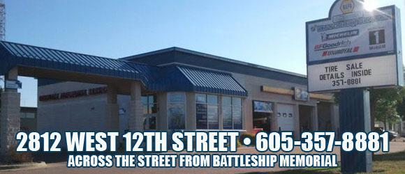 2812 West 12th Street. 605-357-8881. Across the street from Battleship Memorial.
