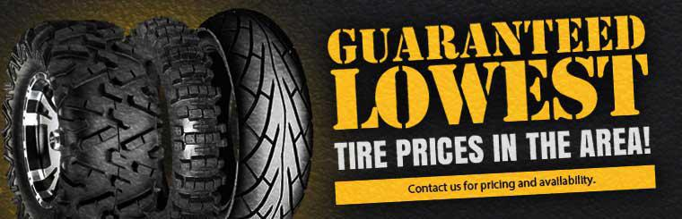We have the lowest tire prices in the area! Contact us for pricing and availability.