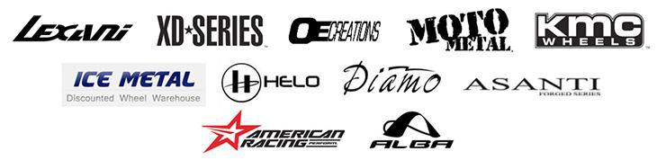 We carry products from Lexani, XD Series, OE Creations, Moto Metal, KMC Wheels, Ice Metal, Helo Wheels, Diamo Wheels, Asanti Wheels, American Racing Wheels, and Alba Wheels.