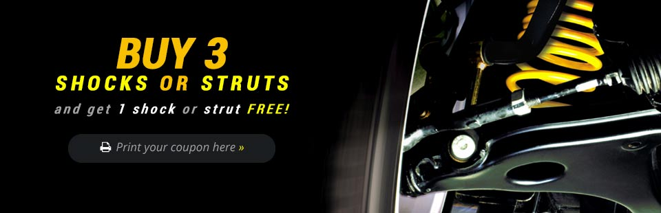 Buy 3 shocks or struts and get 1 shock or strut free! Click here for the coupon.