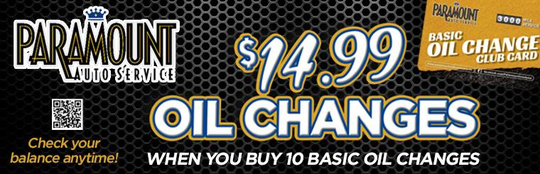 Basic Oil Change Club Card
