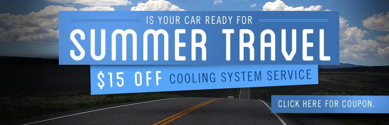 Click here for a coupon to receive $15 off cooling system service.