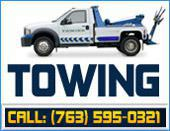 Towing service. Call: (763) 595-0321