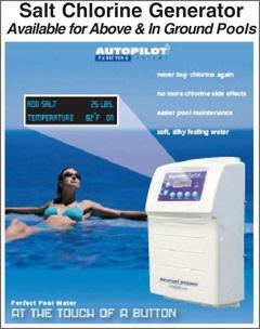 Salt Chlorine Generator. Available for Above & In Ground Pools.