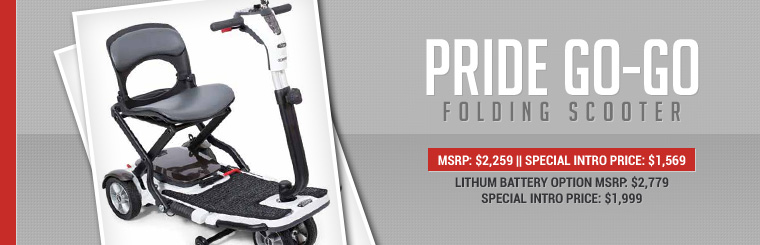 Pride Go-Go Folding Scooter Special Intro Price: Now just $1,569!