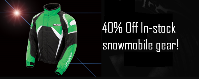 40% off all in-stock snow gear