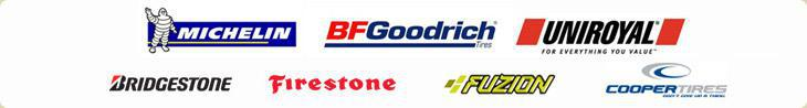 We carry products from Michelin®, BFGoodrich®, Uniroyal®, Bridgestone, Firestone, Fuzion, and Cooper.